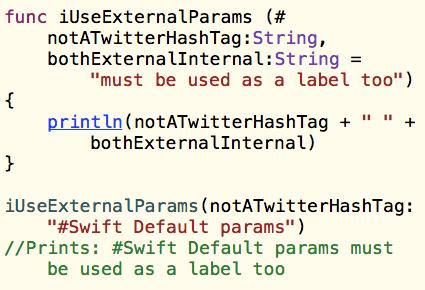 Swift Functions: External Parameters and Default Parameters