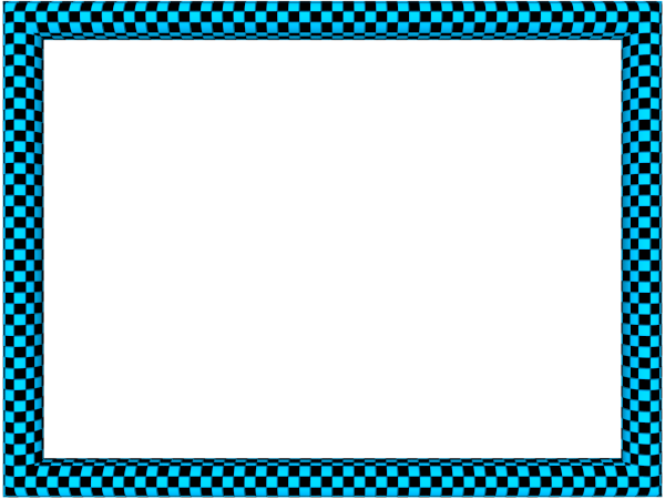 Funky Checker Border in Blue Black color, Rectangular perfect for Powerpoint