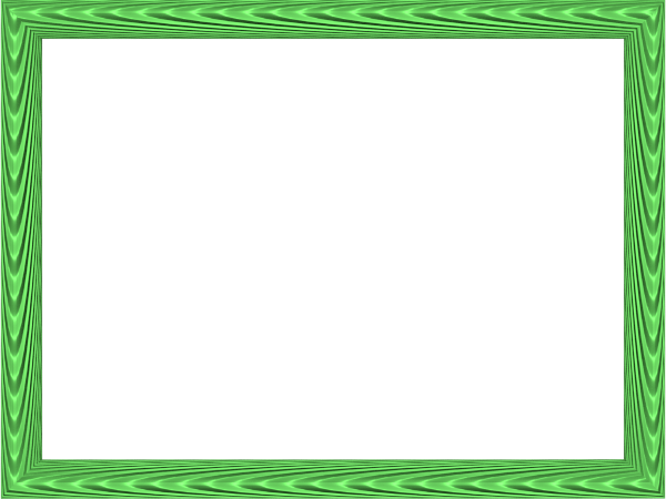 Elegant Fabric Fold Embossed Frame Border in Green color, Rectangular perfect for Powerpoint