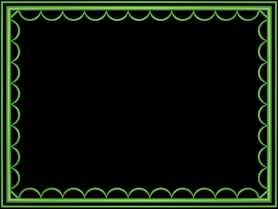 Light Green artistic loop Rectangular Powerpoint Border | 3D Borders