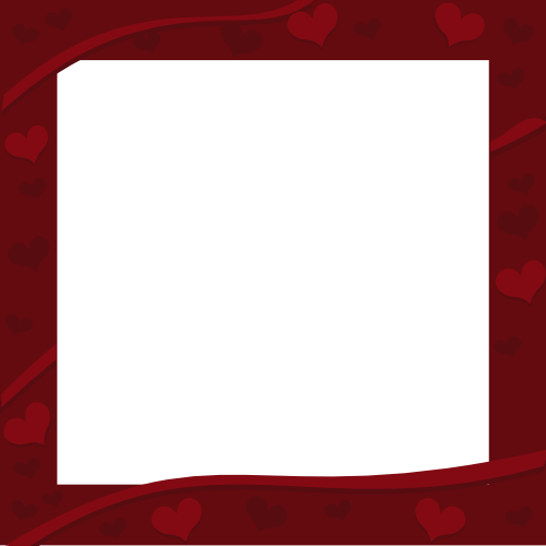 Rich Dark Red Border with Hearts Decor for Valentine's Day ...