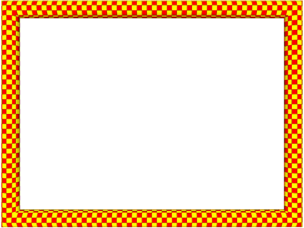 Funky Checker Border in Red Yellow color, Rectangular perfect for Powerpoint