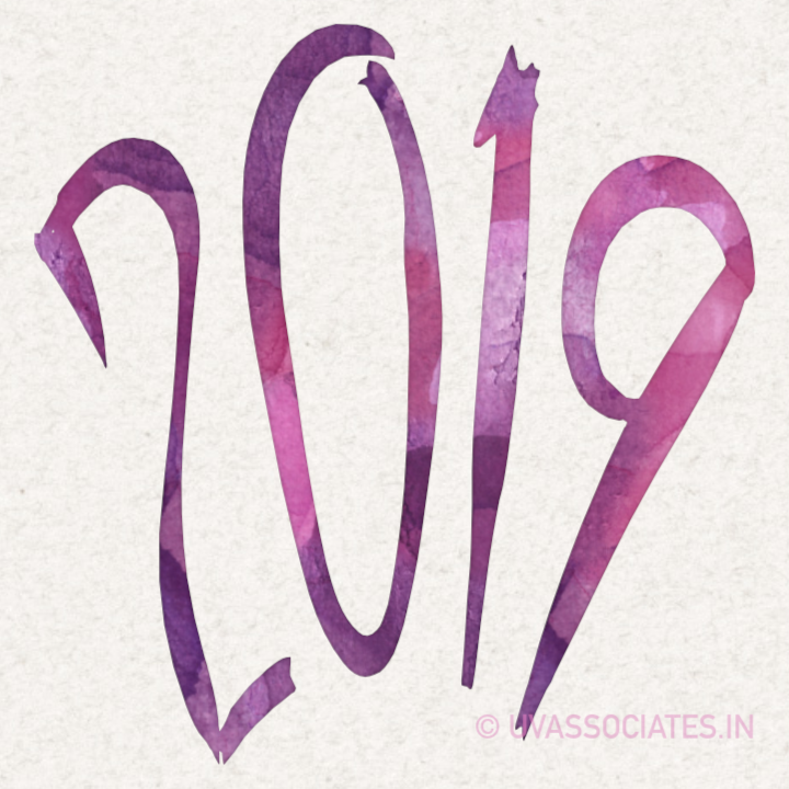 Violet Watercolor 2019 with Brush Script