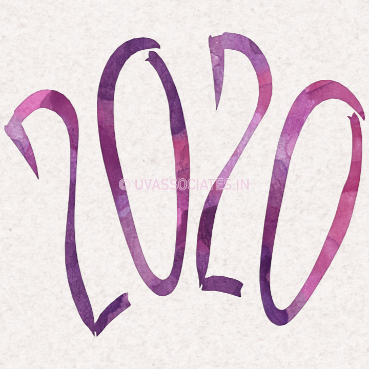 Violet Watercolor 2020 with Brush Script