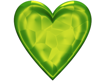 Green Heart Clip Art With glowing Texture for Valentinesday