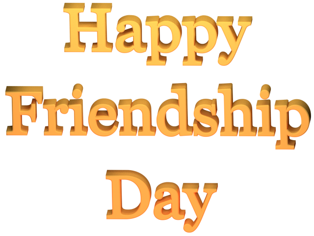 Happy Friendship Day Greeting Clip-art  - 3d Render / Transparent Background