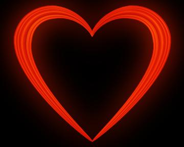 Red Love Heart Embossed Border - Valentine Clip-art