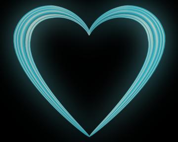 Sky Blue Love Heart Embossed Border - Valentine Clip-art