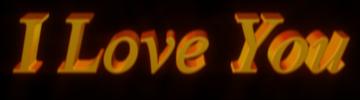3d Text I Love You Clip art