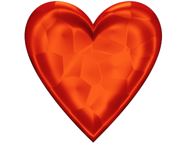Red Heart Clip Art glowing Texture for Valentinesday - Valentine Heart Clip-art