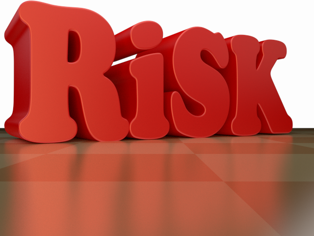 Free Stock Photo - 3d Render of Business Buzzword Risk in red Color