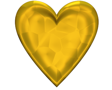 Yellow Heart Clip Art With glowing Texture for Valentinesday