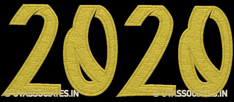 Clip-art 2020 Leather Cut Digits Stitched Edges Effect