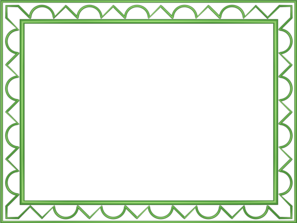 Artistic Loop Triangle Border in Light Green color, Rectangular perfect for Powerpoint