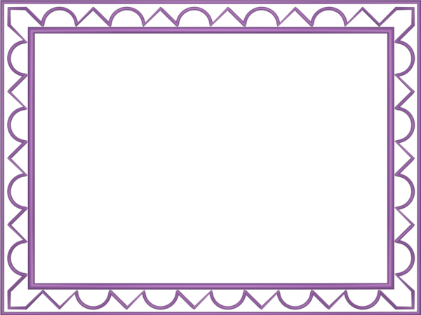 Artistic Loop Triangle Border in Mauve color, Rectangular perfect for Powerpoint