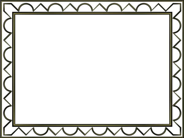 Artistic Loop Triangle Border in Shiny Black color, Rectangular perfect for Powerpoint