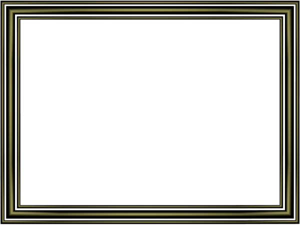 Elegant 3 Separate Bands Border in Shiny Black color, Rectangular perfect for Powerpoint