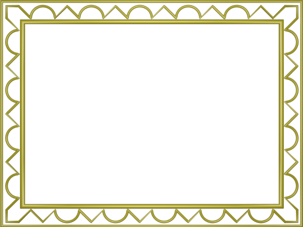 Artistic Loop Triangle Border in Yellow color, Rectangular perfect for Powerpoint