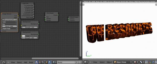 Setting Background Image for Blender 2.65 Cycles - Shadeless Reflective World Material Node Setup