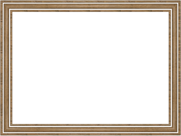 3 Logs Rectangular Border in Wooden color, Powerpoint perfect for Border.png
