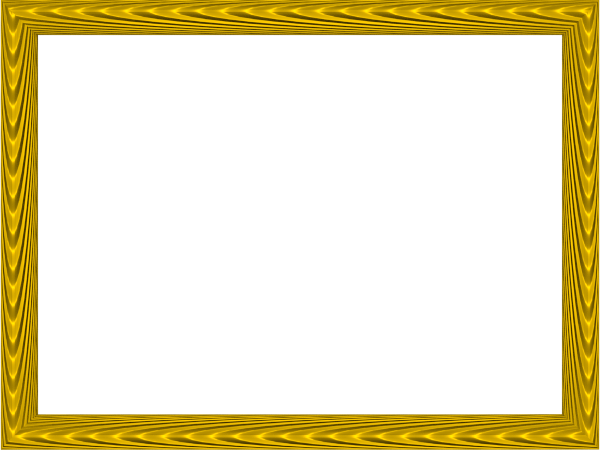 Elegant Fabric Fold Embossed Frame Border in Yellow color, Rectangular perfect for Powerpoint