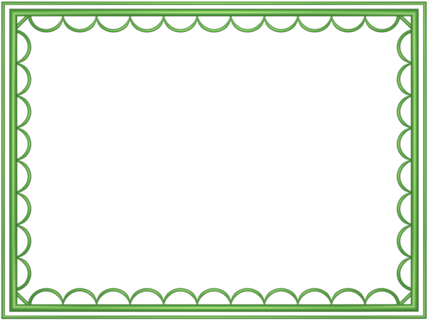 artistic loop Border in Light Green color, Rectangular perfect for Powerpoint