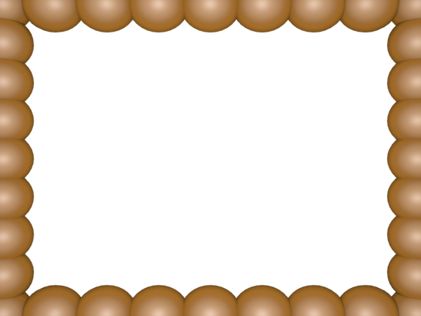 Bubbly Pearls Border in Gold color, Rectangular perfect for Powerpoint
