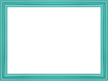 Elegant 3 Separate Bands Border in Aqua color, Rectangular perfect for Powerpoint