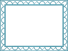 Artistic Loop Triangle Border in Light Blue color, Rectangular perfect for Powerpoint
