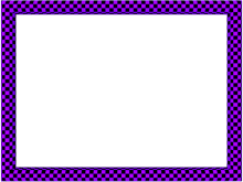 Funky Checker Border in Purple Black color, Rectangular perfect for Powerpoint