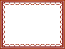 artistic loop Border in Red color, Rectangular perfect for Powerpoint