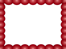 Bubbly Pearls Border in Red Pink color, Rectangular perfect for Powerpoint