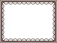 artistic loop Border in Shiny Metallic color, Rectangular perfect for Powerpoint
