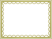 artistic loop Border in Yellow color, Rectangular perfect for Powerpoint