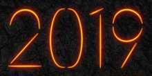 Streaks of Lava Light 2019 Digits