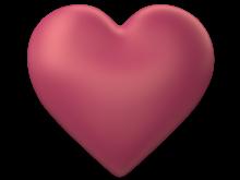 Peach 3d Love Heart with Transparent Background - Valentine Clip-art