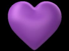 Purple 3d Love Heart with Transparent Background - Valentine Clip-art