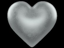 Shining Silver 3d Love Heart w/ Transparent Background - Free Valentine Clip-art