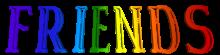 Multicolor Friendship Day Text Clip-art - text Friends, Transparent  Background