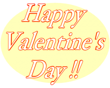Happy Valentine's Day Badge with Transparent Background