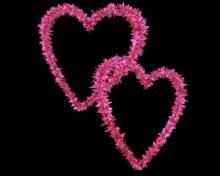 Pink Flowery Entangled Love Hearts - Valentine Clip-art