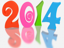 2014 - 3d Render - Clip-art in Bright Multicolor (with Reflection)