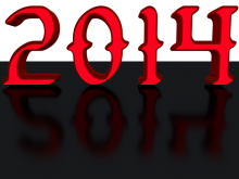 2014 - 3d Render - Red 3d Text clip-art with transparent background (with Reflec