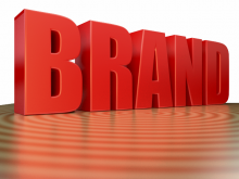3d Render of Corporate Buzzword Brand in Shiny Red Color