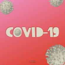 Covid-19 Images - Gray Coronavirus cells on Gradient background