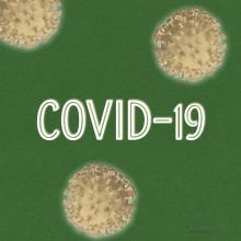 Green Background Pale Coronavirus 3d render