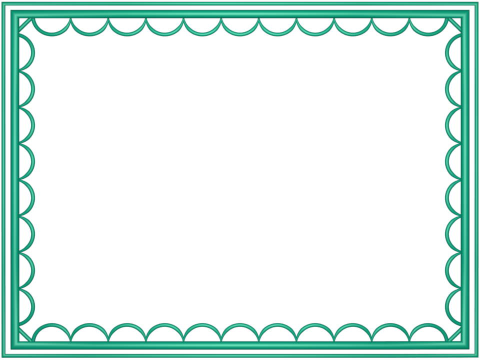 artistic loop Border in Cyan color, Rectangular perfect for Powerpoint