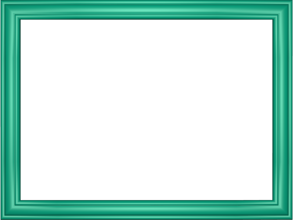 Elegant Embossed Frame Border in Cyan color, Rectangular perfect for Powerpoint