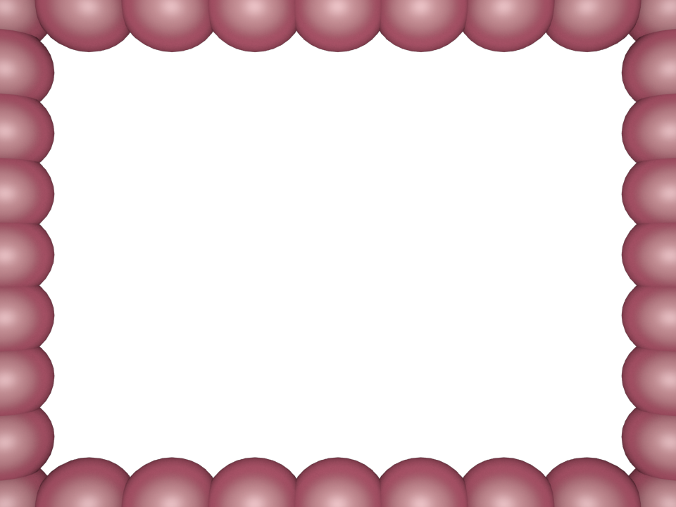 Bubbly Pearls Border in English Pink color, Rectangular perfect for Powerpoint