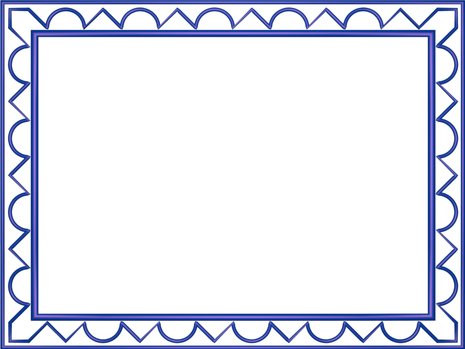 Artistic Loop Triangle Border in Indigo color, Rectangular perfect for Powerpoint